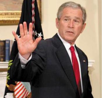 محاكمة جورج بوش بتهمة ارتكاب